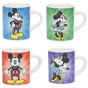 Mickey y Minnie Mouse Retro mini tazas
