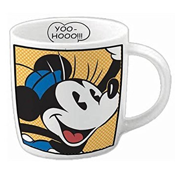 "Retro Minnie Mouse ""Yoo-Hooo!!!"" Ceramic Coffee"